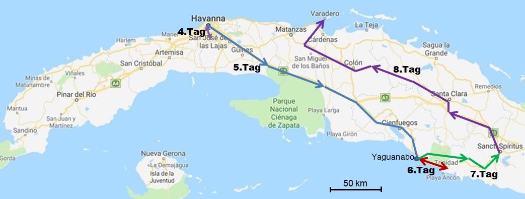 Havanna Kuba Karte.Rundreise In Der Mitte Von Cuba Teil 1