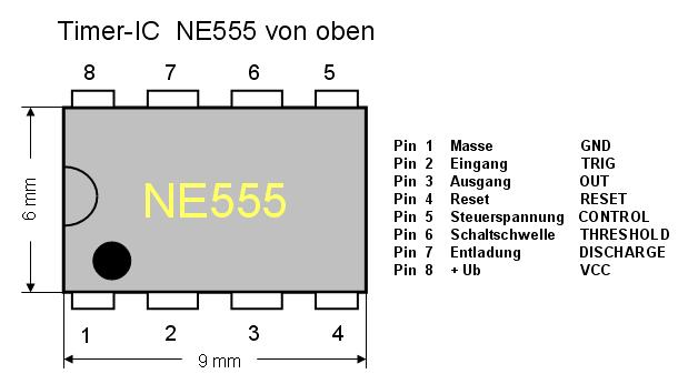 ne555 multivibrator mit dimensionierung. Black Bedroom Furniture Sets. Home Design Ideas